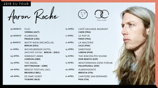 Aaron Roche Europe tour & new video