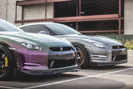 Nissan GT-R Vinyl Wrap Before and After