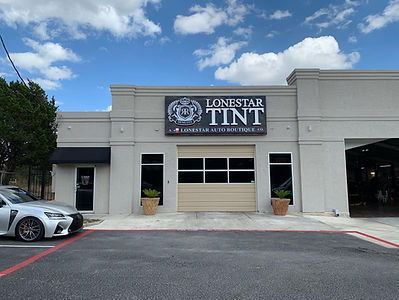 lonestar tint and auto boutique storefront
