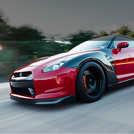 Red and Black Nissan GTR