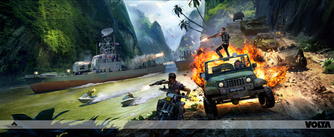 Just Cause 3 - Convoy Attack