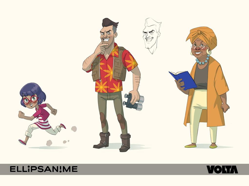 Marsupilami - 3 Characters