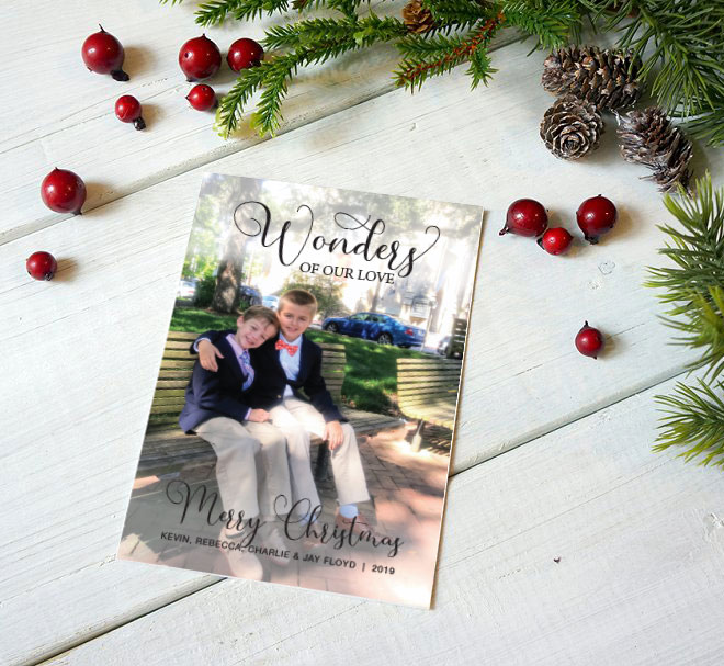 Wonders of Our Love Christmas Card