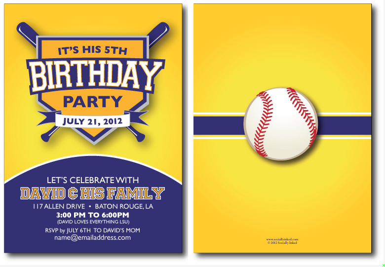 LSU Birthday Invite