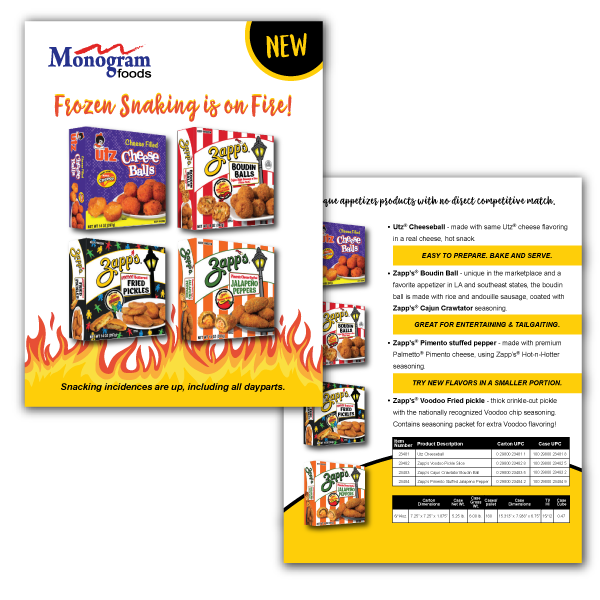 Monogram Foods Sales Sheet