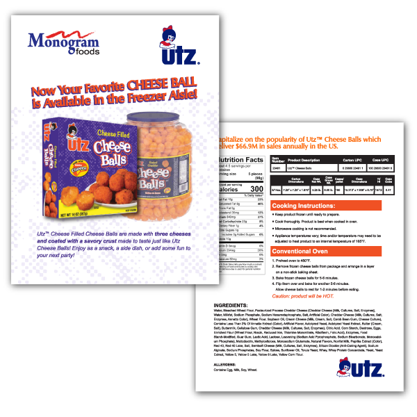 Utz Sales Sheet