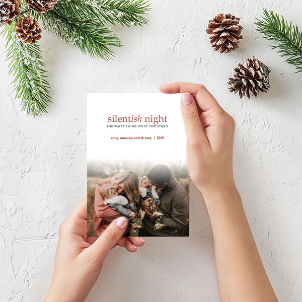 Silentish Night Christmas Card
