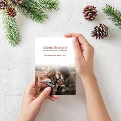 Silentish Night Christmas Card
