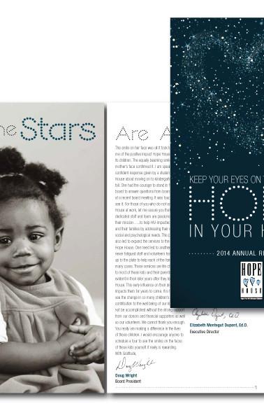 Hope House Magazine Design