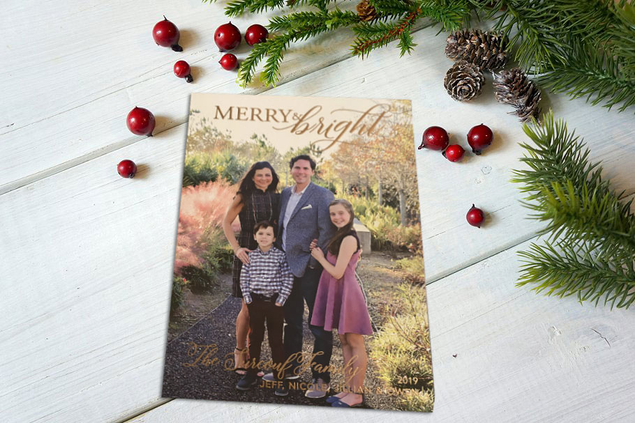 Merry&Bright Christmas Card