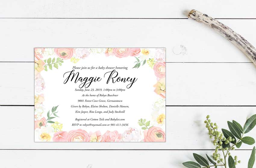 Maggie's Baby Shower Invitation