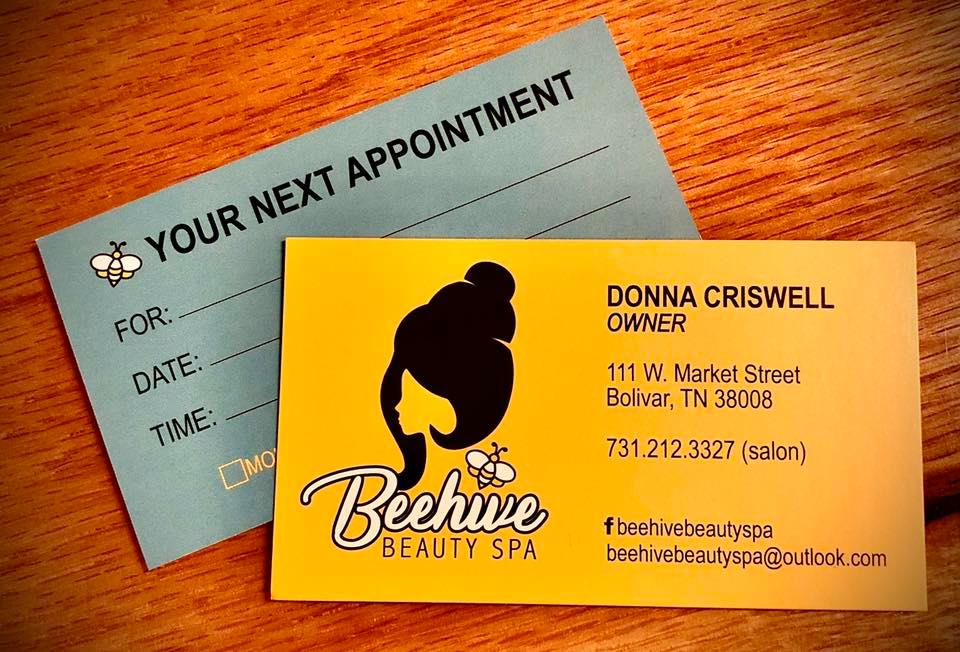 Beehive Beauty Spa Cards