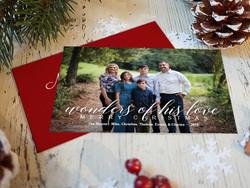 Wonders of His Love Christmas Card