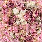 wedding bouquet with rose bush, Ranuncul