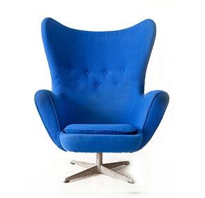 niebieski krzesło