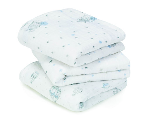 aden + anais - Night Sky Reverie Muslin Square (3pk)
