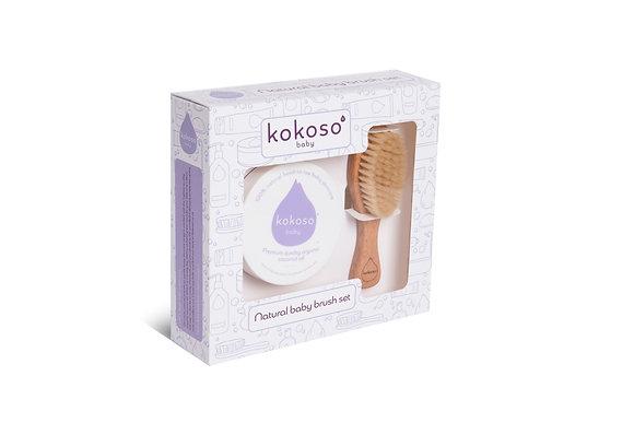 Kokoso Natural Baby Brush Set