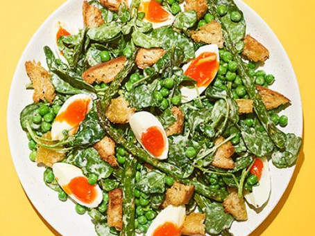 Roasted Asparagus & Pea Salad