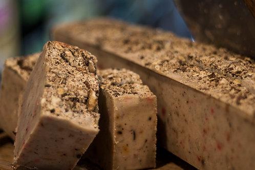 Specialty Raw Bar Soap: OATMEAL BUTTER & CRUSHED WALNUT MULTIGRAIN (10oz)