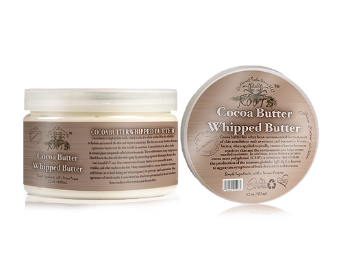 Cocoa Butter Whipped Body Butter 12oz.