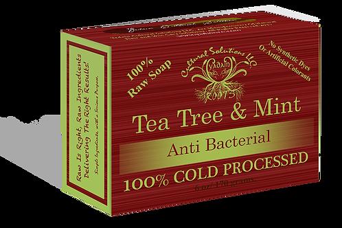 Raw Tea Tree & Mint Deep Penetrating , Therapeutic Bar