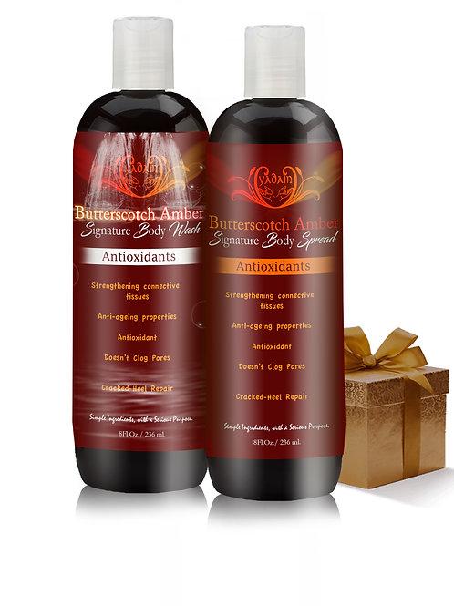 Butter Scotch Amber Signature Wash & Body Spread