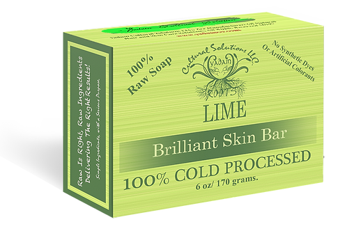 Signature 100% Cold Processed, Raw Bar Soap: LIME (6oz)