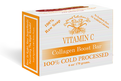 Signature 100% Cold Processed, Raw Bar Soap: VITAMIN C (6oz)