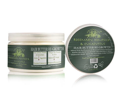 Rosemary, Hempseed & Eucalyptus Hair Butter Re-Growth (12oz)