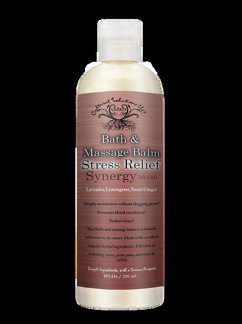 Synergy Brand Bath & Massage Balm: Stress Relief (8oz)