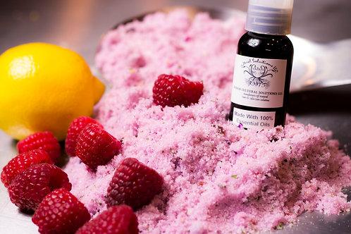 Raspberry & Lemon Sugar Scrub 1lb. Gift Bag