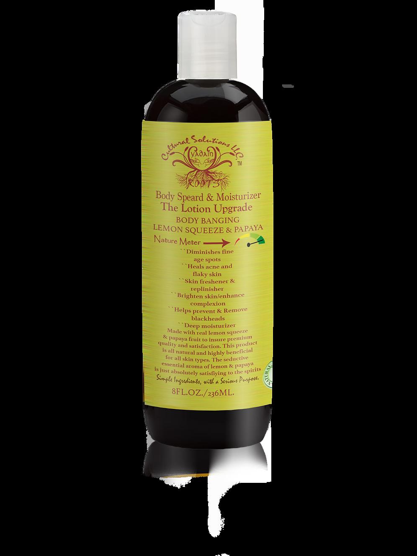Body Banging Lemon Squeeze & Papaya Body Spread & Moisturizer-8oz