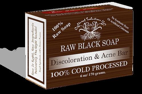 Signature 100% Cold Processed, Raw Bar Soap: RAW BLACK SOAP (6oz)