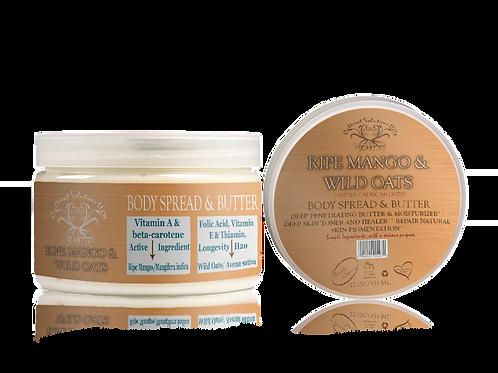 Ripe Mango & Wild Oats Body Spread & Butter- 12oz.