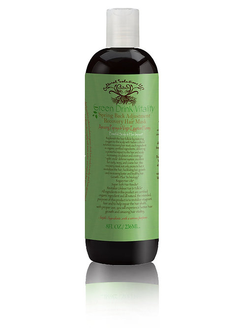 Green Drink Vitality: Spring Back Adjustment Recovery Hair Mask (8oz)