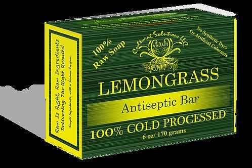 Signature 100% Cold Processed, Raw Bar Soap: LEMONGRASS (6oz)