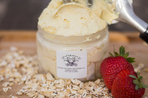 Specialty Whipped Butter: STRAWBERRY & OATS (8oz)
