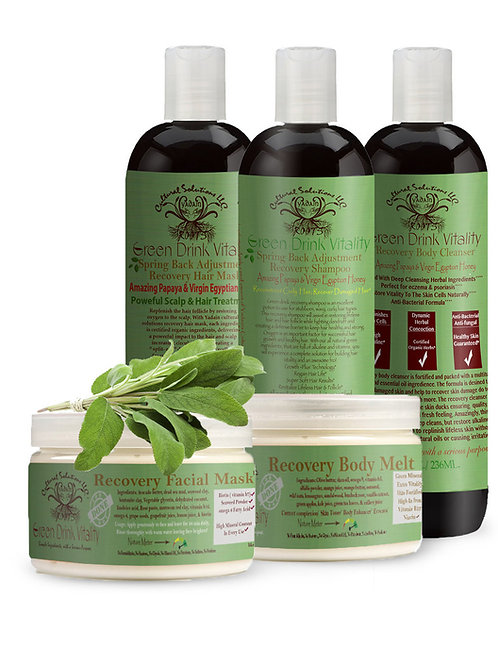 Full Face, Hair & Body Collection: Green Drink Vitality Recovery