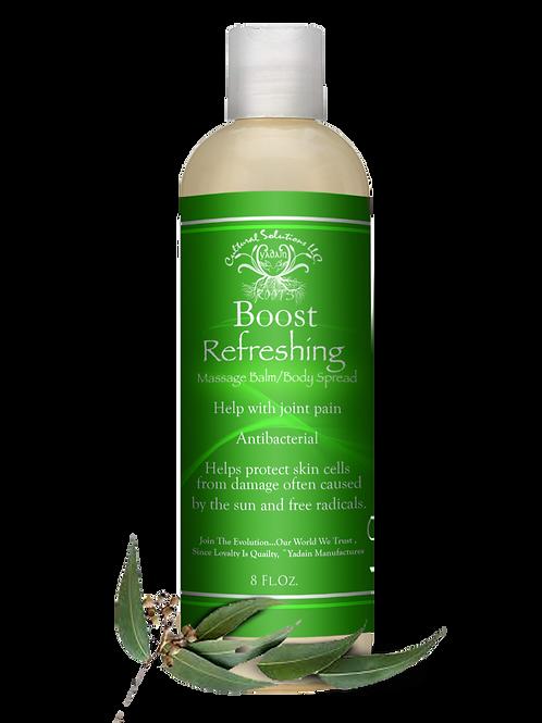 BOOST Massage Balm/Body Spread: Refreshing (8oz)