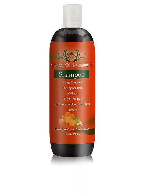 Signature Shampoo: Carrot Oil & Vitamin E (8oz)
