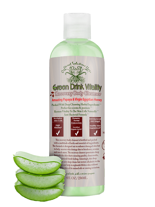 Green Drink Vitality Recovery Body Cleanser, Eczema Reparation 8oz.