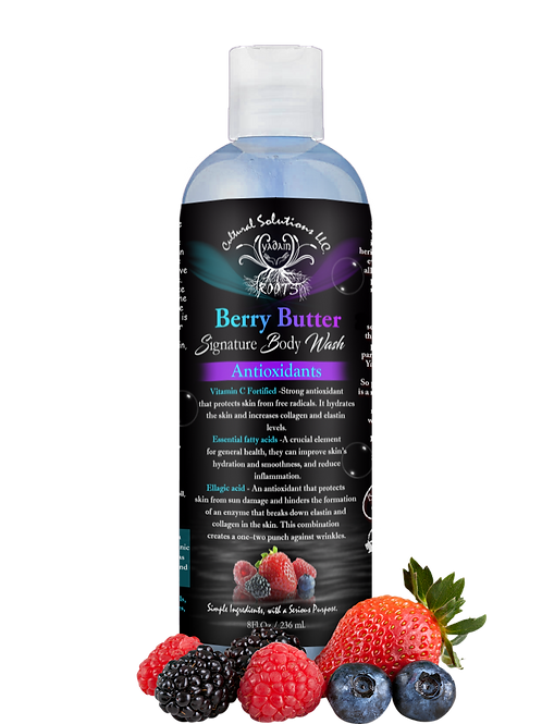 Signature Antioxidant Body Wash: BERRY BUTTER (8oz)