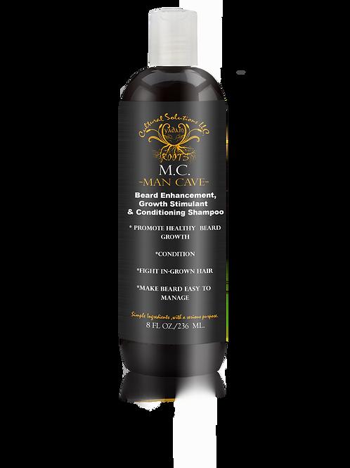 Man Cave Premium Beard Shampoo Beard Enhancement, Growth Stimulant (8oz.)