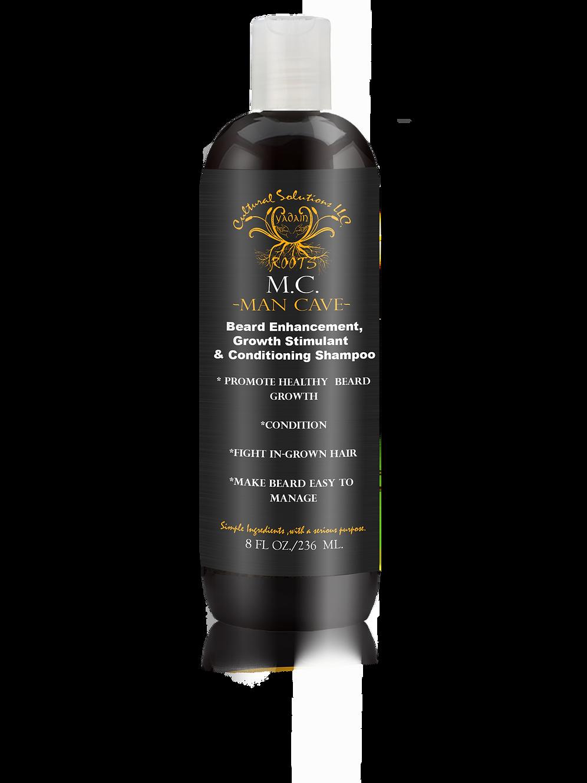 Man Cave Premium Beard Shampoo Beard Enhancement, Growth Stimulant (8oz )
