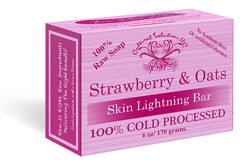 Signature 100% Cold Processed, Raw Bar Soap: STRAWBERRY & OATS (6oz)