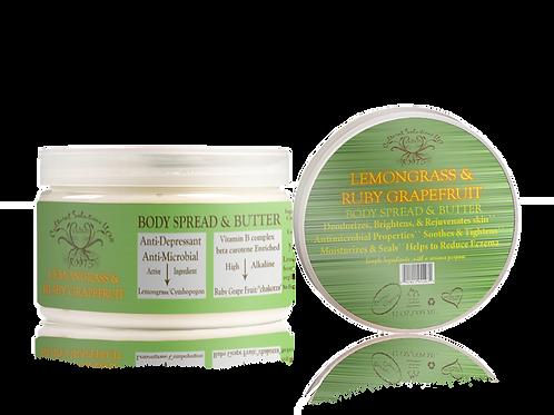 Body Spread & Butter: Lemongrass & Ruby Grapefruit (12oz)