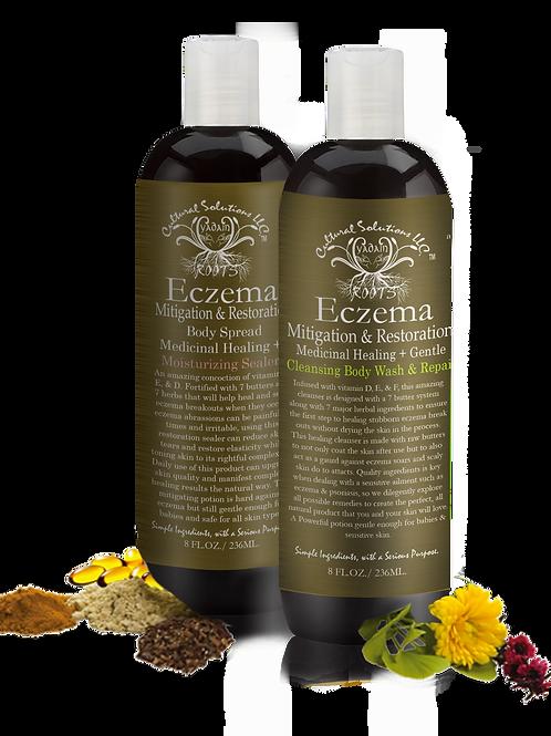Eczema Mitigation & Restore Combo Set 2pc. 8oz Bottle