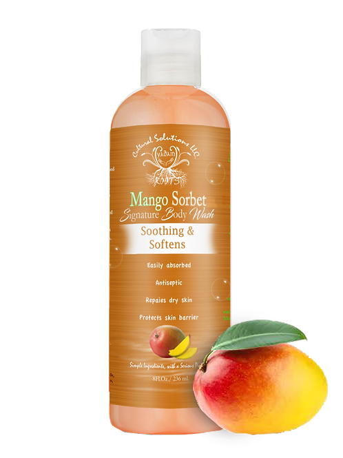 Signature Soothing & Softening Body Wash: MANGO SORBET (8oz)