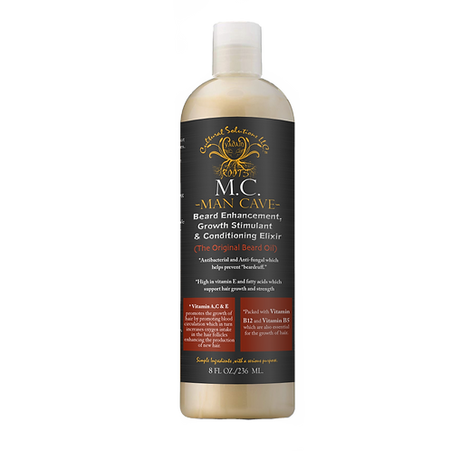 Man Cave (M.C.) Beard Enhancement, Growth Stimulant & Conditioning Elixir (8oz)