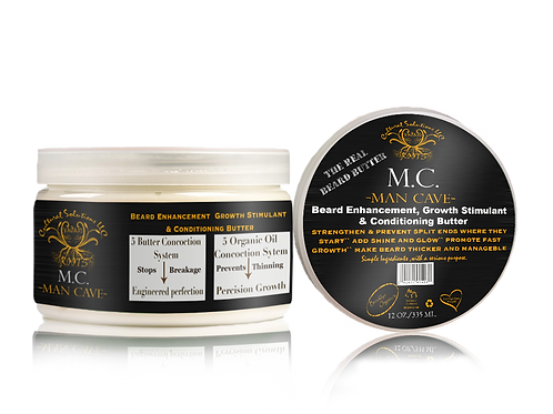 Man Cave (M.C.) Beard Enhancement, Growth Stimulant & Conditioning Butter (12oz)